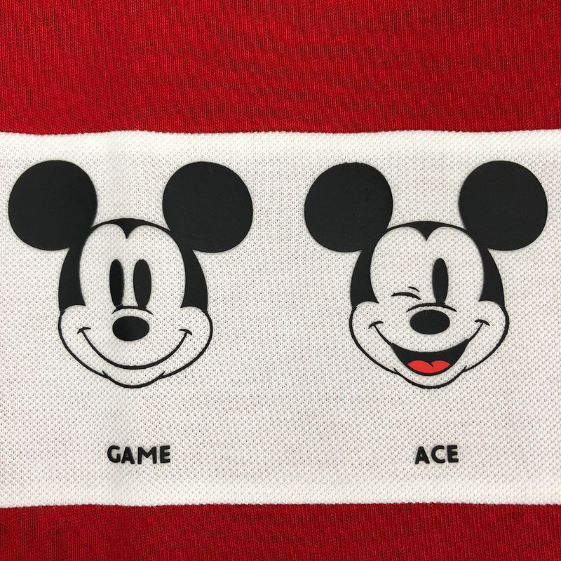Lacoste Men's Disney Mickey Graphic Band Cotton Jersey T-Shirt Red / White Artwork 2