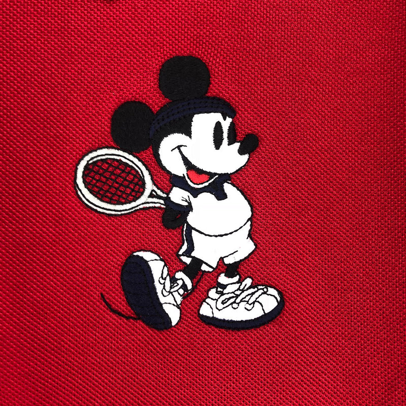 Lacoste Men's L.12.12 Lacoste Disney Mickey Embroidery Petit Pique Polo Red Artwork