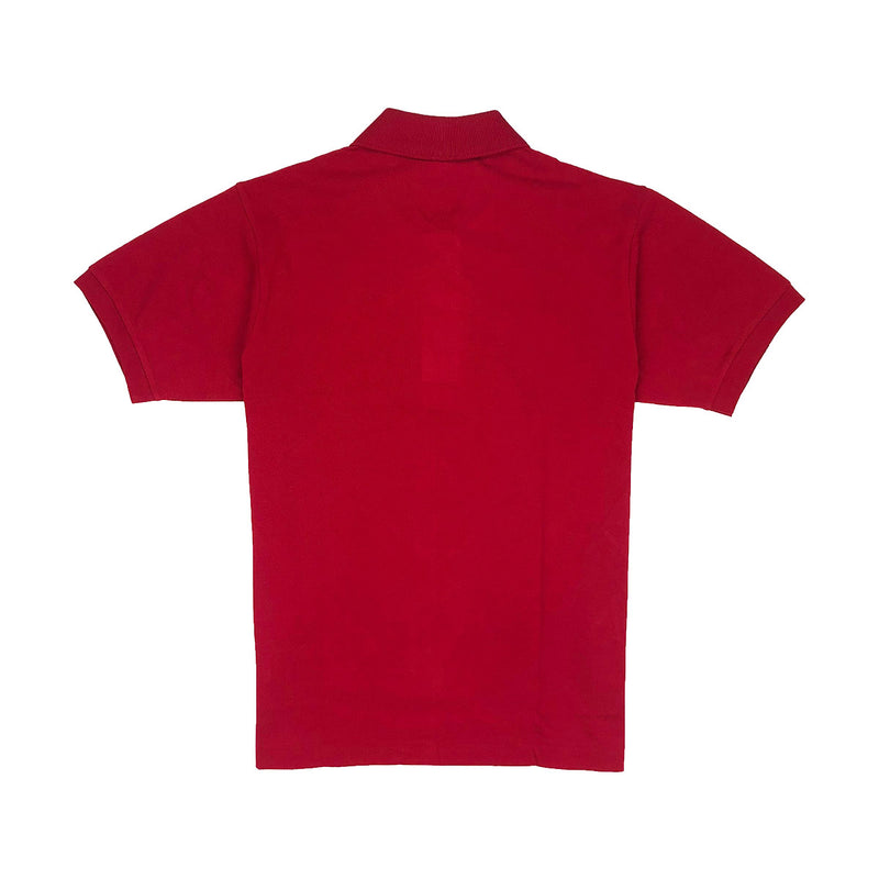 Lacoste Men's L.12.12 Lacoste Disney Mickey Embroidery Petit Pique Polo Red Back