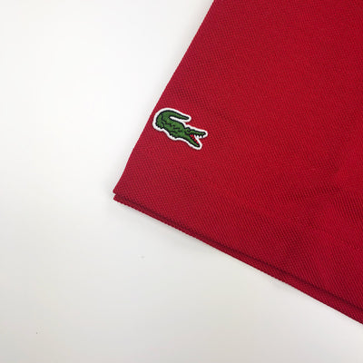 Lacoste Men's L.12.12 Lacoste Disney Mickey Embroidery Petit Pique Polo Red Crocodile