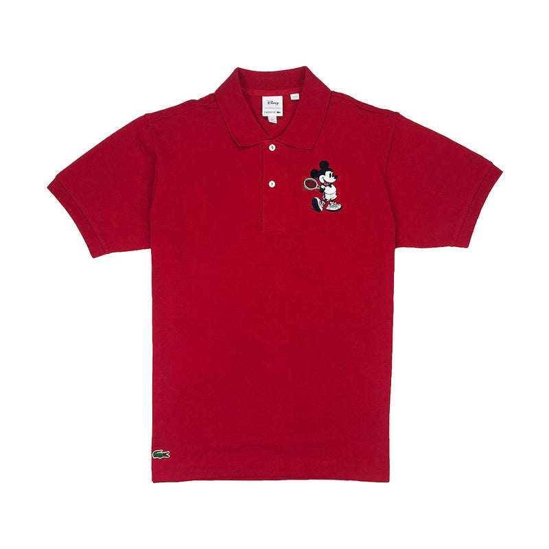 Lacoste Men's L.12.12 Lacoste Disney Mickey Embroidery Petit Pique Polo Red