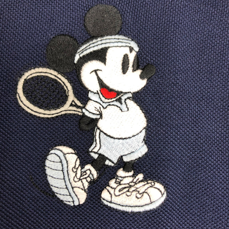 403b90570 Lacoste Men's L.12.12 Lacoste Disney Mickey Embroidery Petit Pique Polo Navy  Blue Mickey