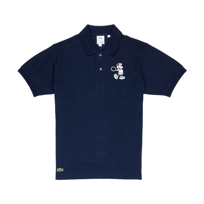 b930d1df Lacoste Men's L.12.12 Lacoste Disney Mickey Embroidery Petit Pique Polo  Navy Blue
