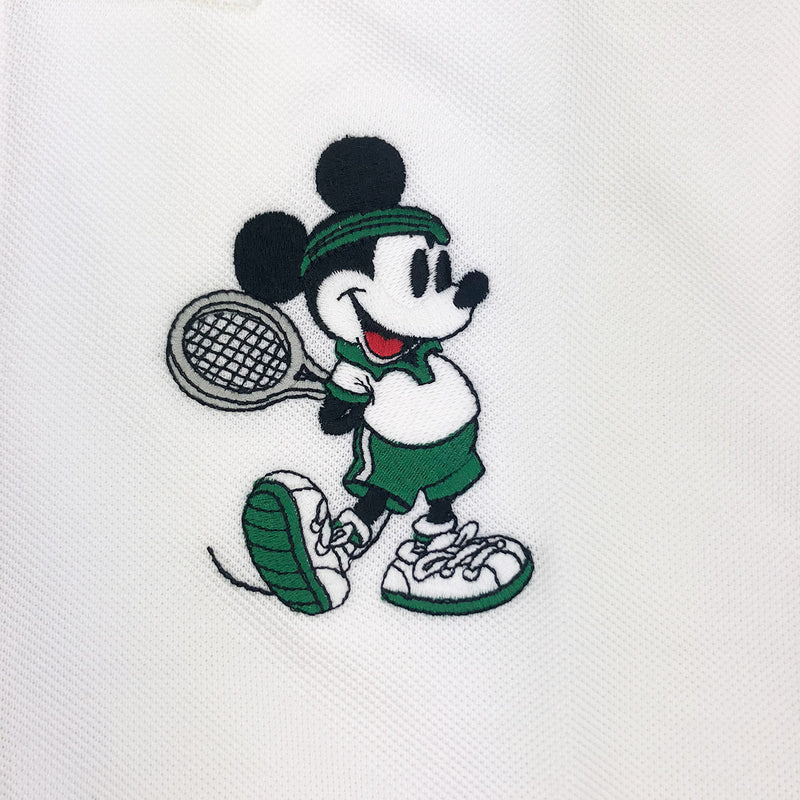 Lacoste Men's L.12.12 Lacoste Disney Mickey Embroidery Petit Pique Polo White Artwork
