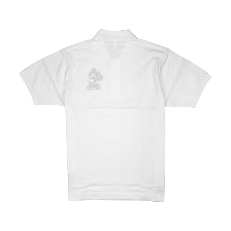 Lacoste Men's L.12.12 Lacoste Disney Mickey Embroidery Petit Pique Polo White Back
