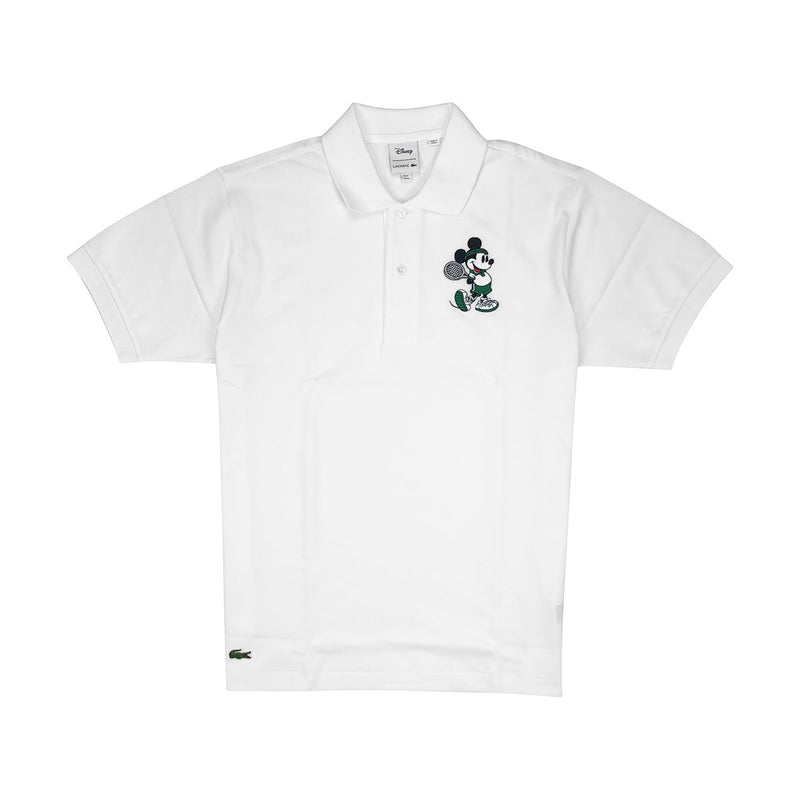 Lacoste Men's L.12.12 Lacoste Disney Mickey Embroidery Petit Pique Polo White