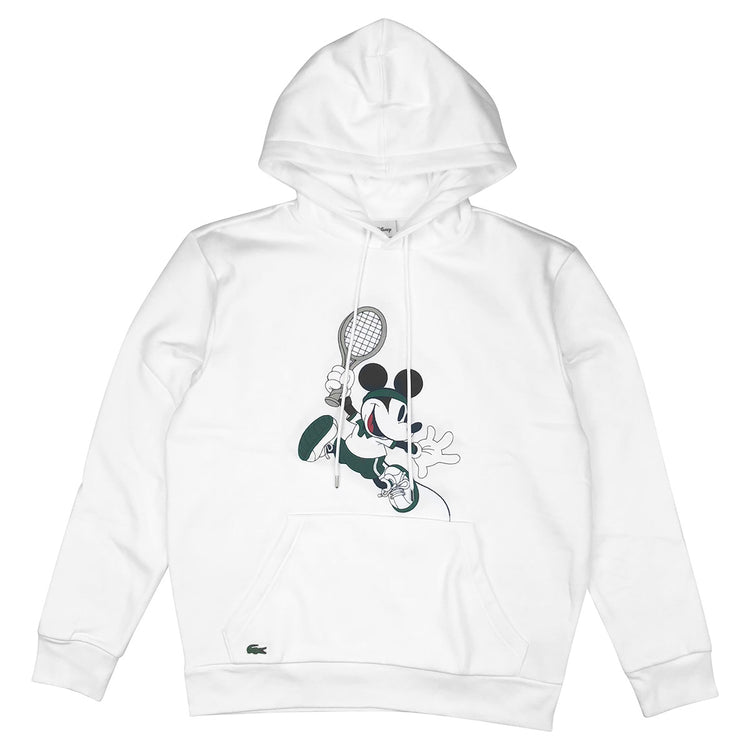 7ea93c18bca Lacoste xLacoste Unisex Disney Mickey Embroidery Hooded Fleece Sweatshirt  Disney Pull Over Mickey Sweatshirt White. Sale