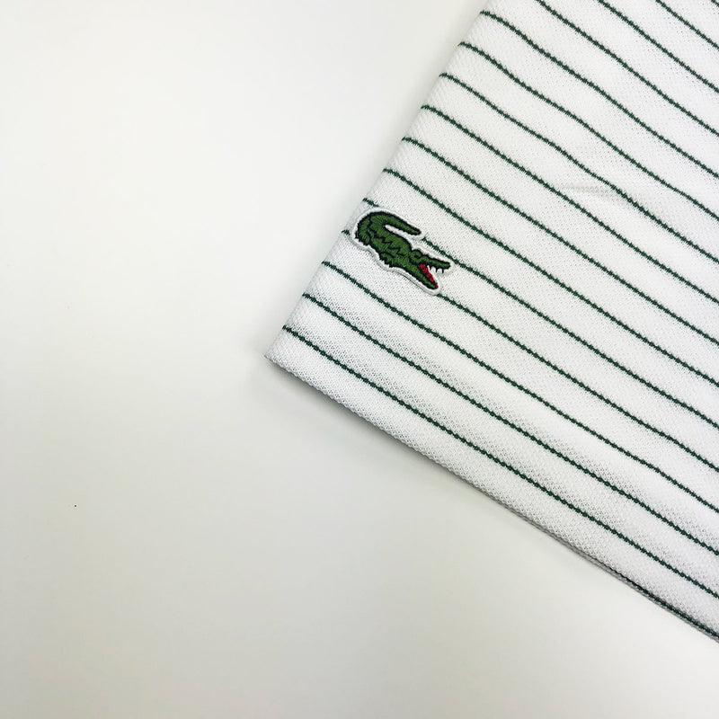 Lacoste Men's L.12.12 Lacoste Disney Mickey Embroidery Petit Pique Polo White / Green Crocodile