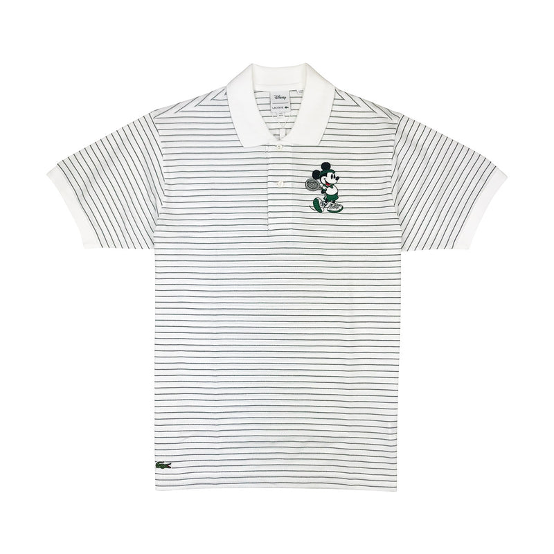 Lacoste Men's L.12.12 Lacoste Disney Mickey Embroidery Petit Pique Polo White / Green