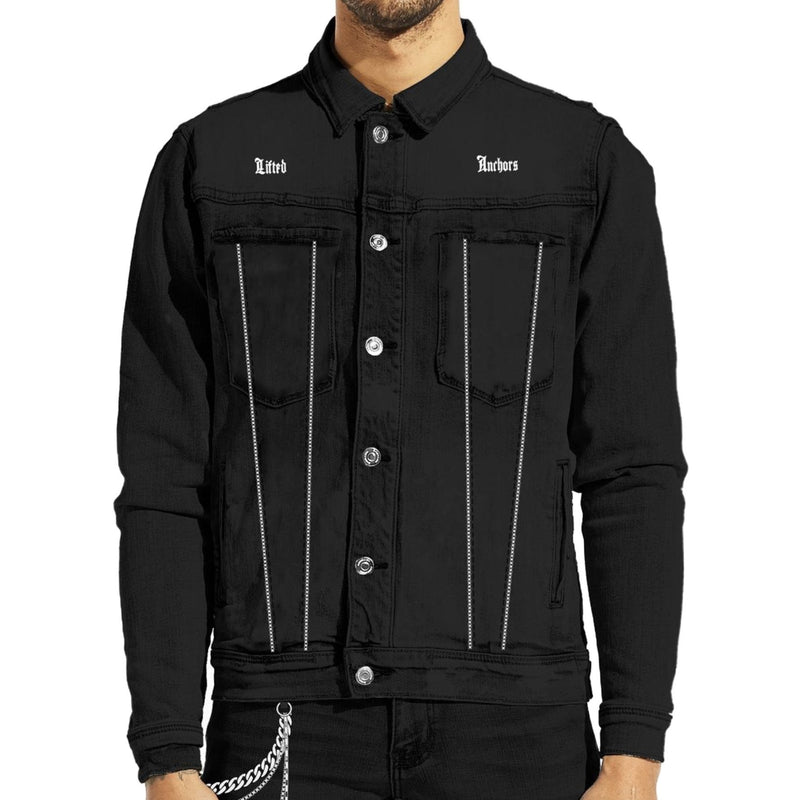 Lifted Anchors Men's Prisoner Denim Jacket Black