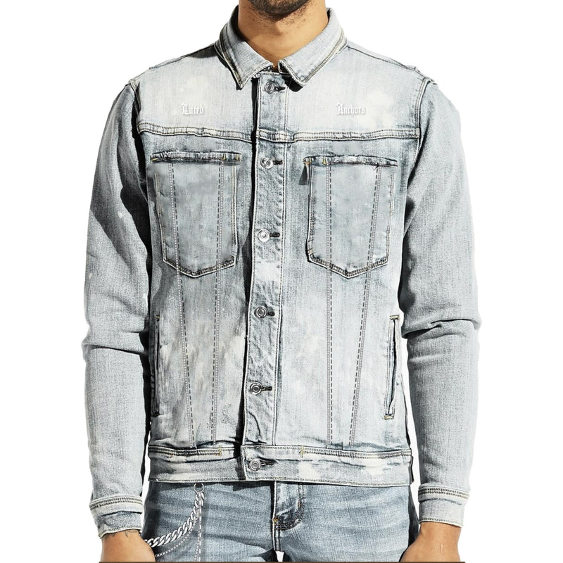 Lifted Anchors Men's Prisoner Denim Jacket Blue