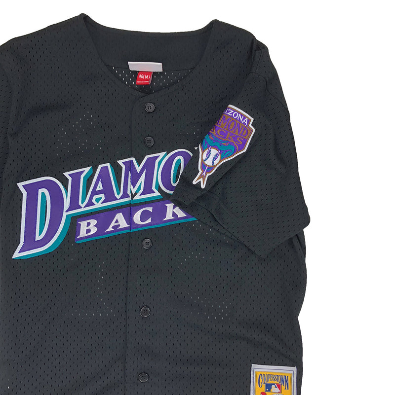 Mitchell & Ness Arizona Diamondbacks Randy Johnson Baseball Jersey Black Patch