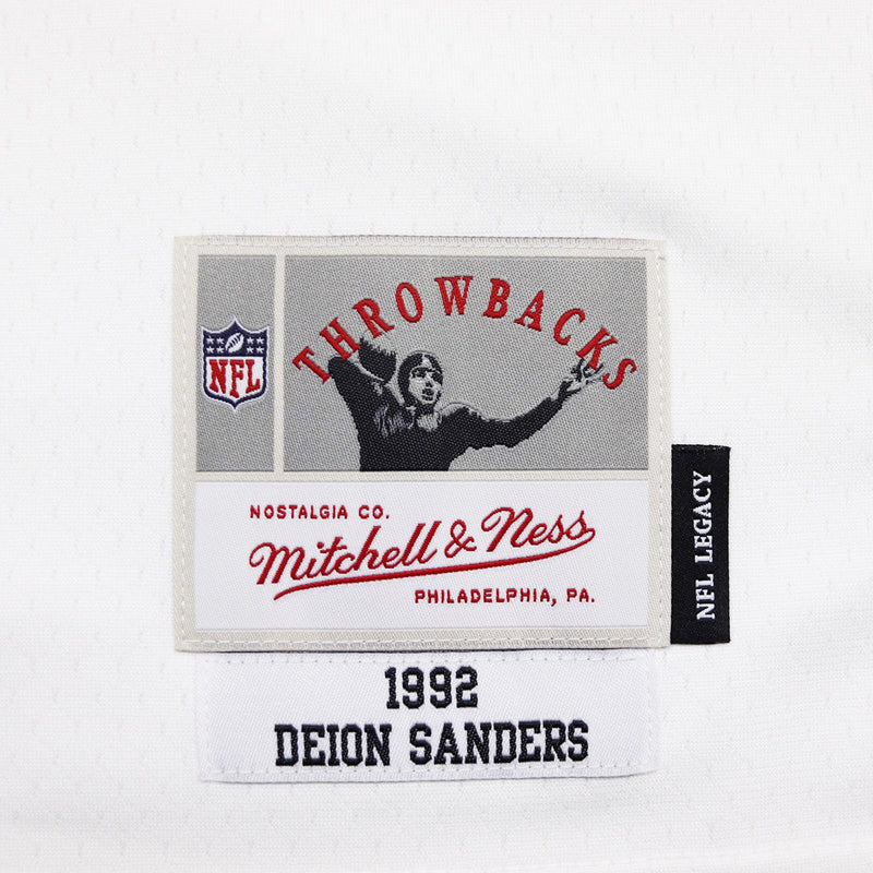 ef8613e7d Mitchell & Ness Atlanta Falcons Deion Sanders Throwback Jersey White & Black  Tag
