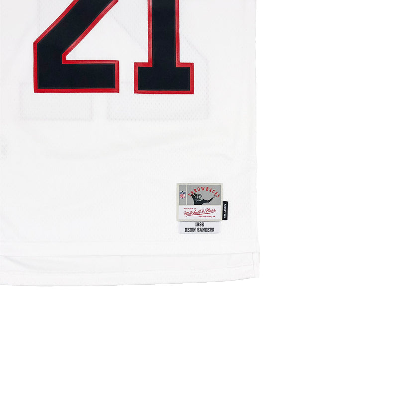 Mitchell & Ness Atlanta Hawks Dion Sanders Throwback Jersey White Tag
