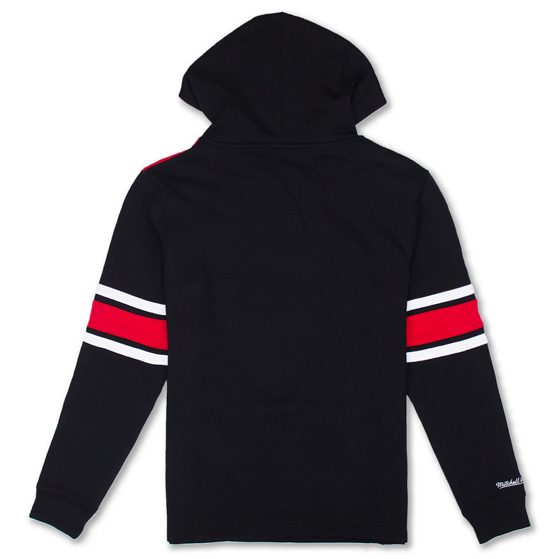 Mitchell & Ness Chicago Bulls Pullover Hockey Hoodie Black & Red Back