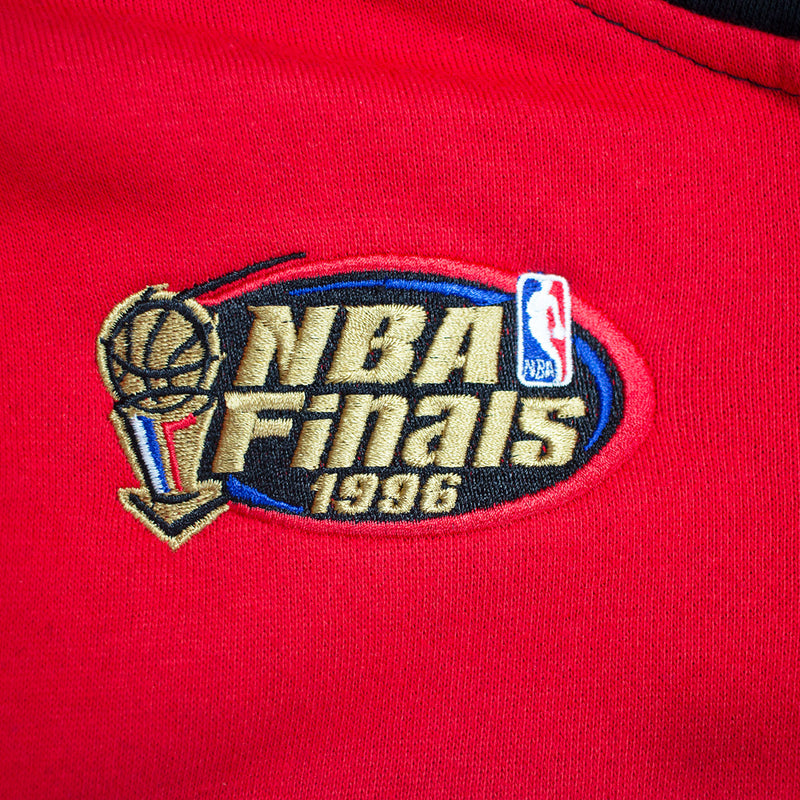 Mitchell & Ness Chicago Bulls Pullover Hockey Hoodie Black & Red NBA Finals Patch