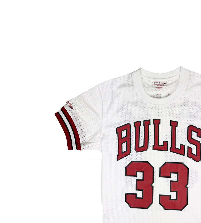 Mitchell & Ness Chicago Bulls Scottie Pippen Mesh Jersey White Neckline