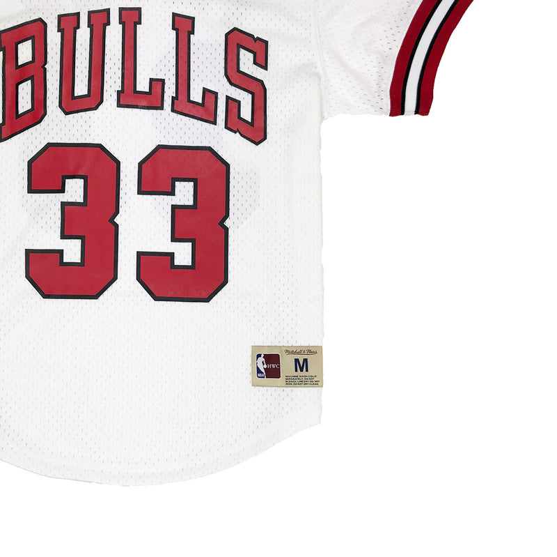 Mitchell & Ness Chicago Bulls Scottie Pippen Mesh Jersey White Trademark