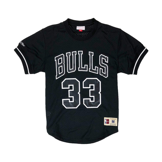 Mitchell & Ness Chicago Bulls Scottie Pippen Name & Number Mesh Crew Neck Black