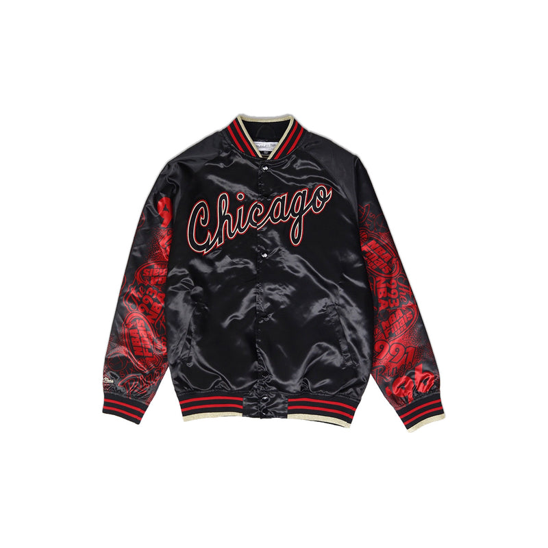 Mitchell & Ness Chicago Bulls Sublimated Baseball Jacket