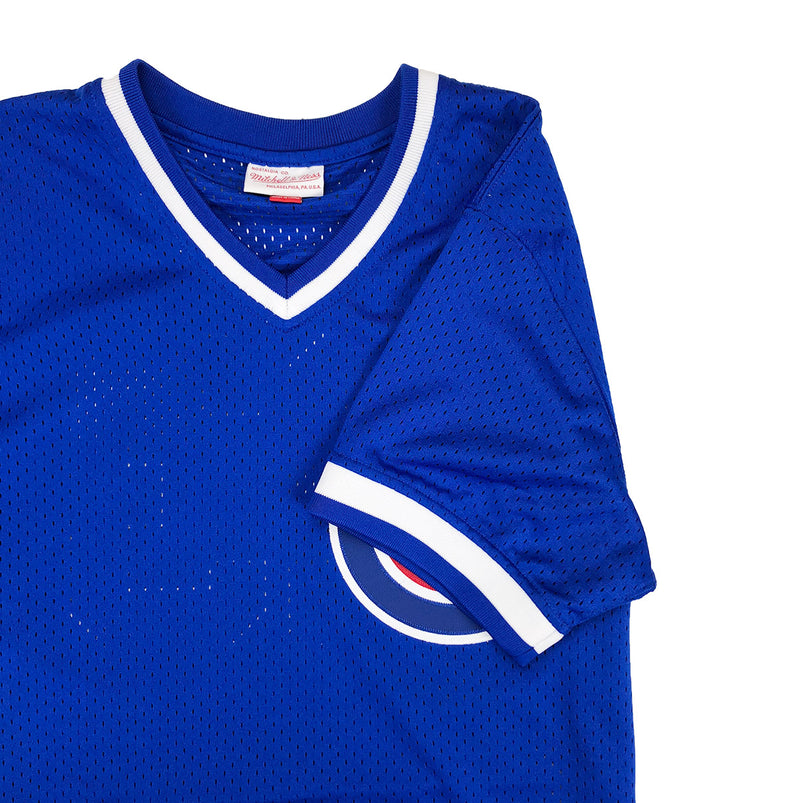 Mitchell & Ness Chicago Cubs Ryne Sandberg BP Jersey Royal Blue Neckline