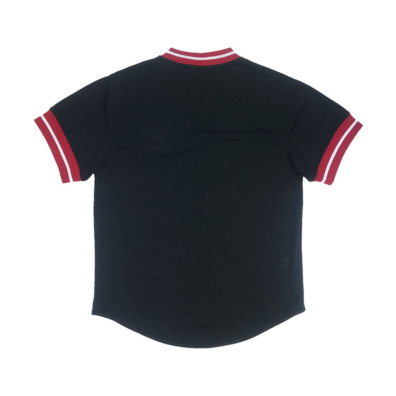 Mitchell & Ness Cincinnati Reds Mesh V-Neck Black Back