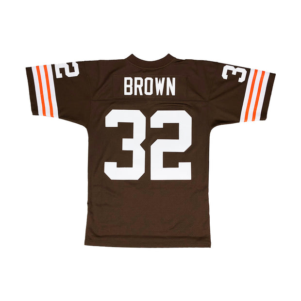 ... authentic jersey 32 nfl road cleveland browns throwback b7a1f 28b47   greece mitchell ness cleveland browns jim brown throwback jersey browns  back fc9d9 ... c85532271