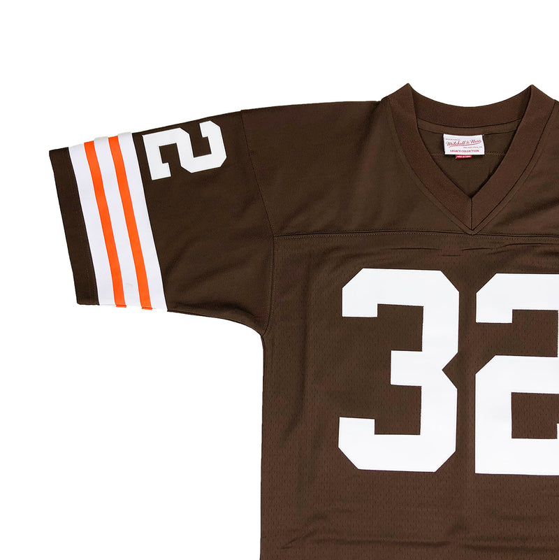 Mitchell & Ness Cleveland Browns Jim Brown Throwback Jersey Browns Neckline