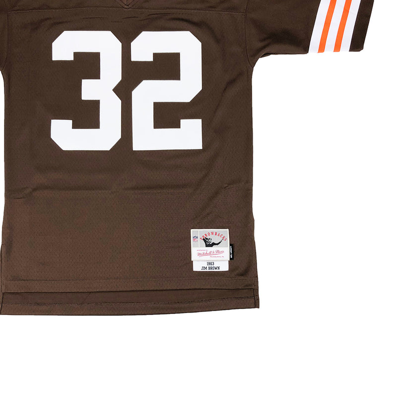 Mitchell & Ness Cleveland Browns Jim Brown Throwback Jersey Browns Tag