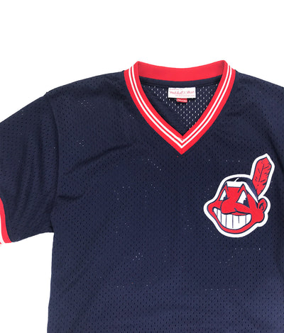 new products 96ab6 99dc8 Mitchell & Ness Cleveland Indians Joe Carter BP Jersey