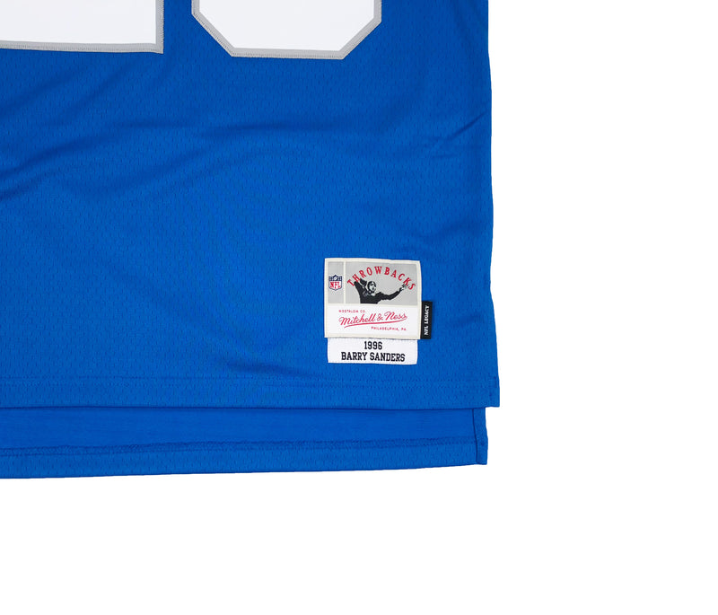 Mitchell & Ness Detroit Lions Barry Sanders Throwback Jersey Blue Tag