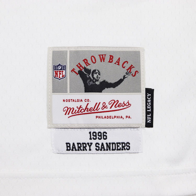 Mitchell   Ness Detroit Lions Barry Sanders Throwback Jersey Blue   White  Tag b9af7a2cf