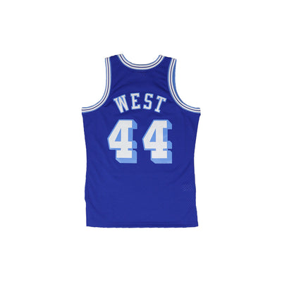 Mitchell & Ness Los Angeles Lakers Jerry West Basketball Jersey Blue Back