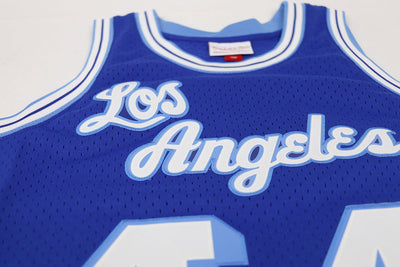 Mitchell & Ness Los Angeles Lakers Jerry West Basketball Jersey Blue Logo