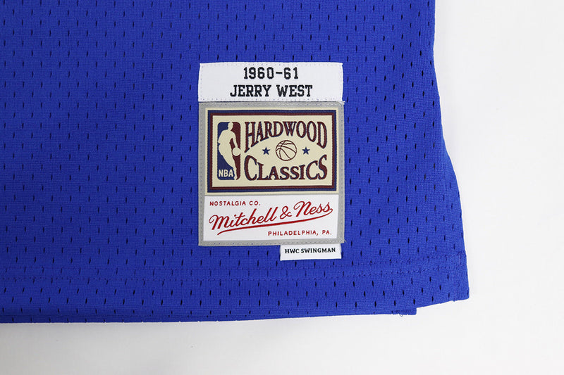 Mitchell & Ness Los Angeles Lakers Jerry West Basketball Jersey Blue Logo Tag