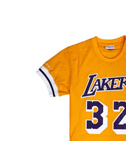 Mitchell & Ness Los Angeles Lakers Magic Johnson Mesh Jersey Gold Neckline
