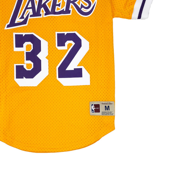 Mitchell & Ness Los Angeles Lakers Magic Johnson Mesh Jersey Gold Trademark