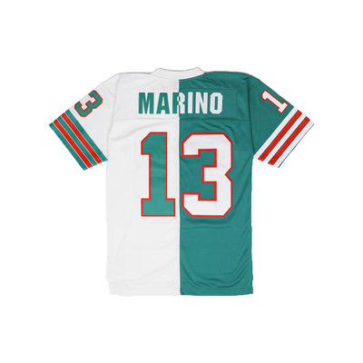 Mitchell & Ness Miami Dolphins Dan Marino Throwback Jersey Teal & White Back