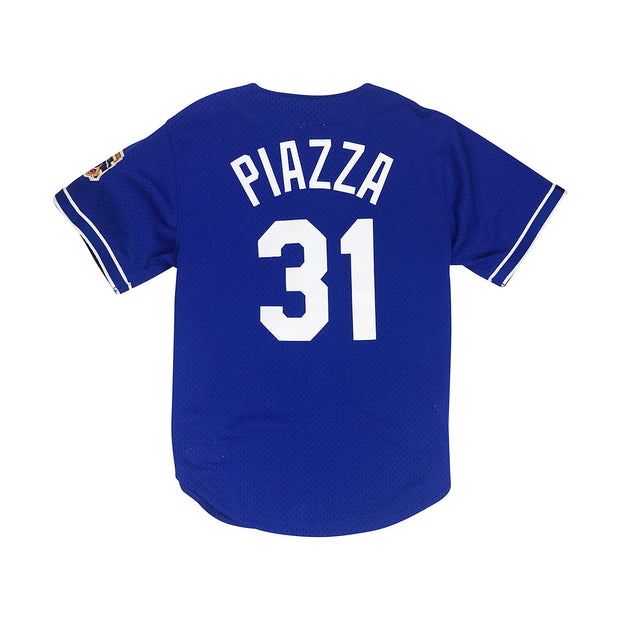 Mitchell & Ness Mike Piazza Los Angeles Dodgers BP BF Jersey Royal Blue Back