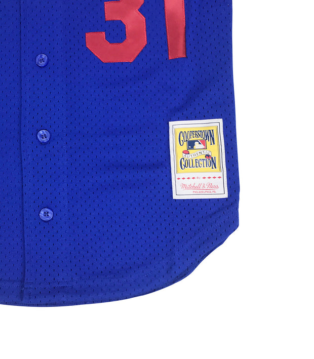 Mitchell & Ness Mike Piazza Los Angeles Dodgers BP BF Jersey Royal Blue Trademark