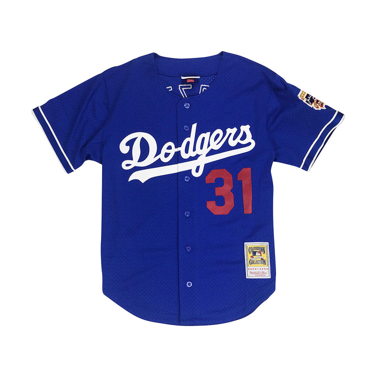 Mitchell & Ness Mike Piazza Los Angeles Dodgers BP BF Jersey Royal Blue