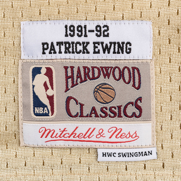 Mitchell & Ness New York Knicks Patrick Ewing Swingman Jersey Gold Trademark