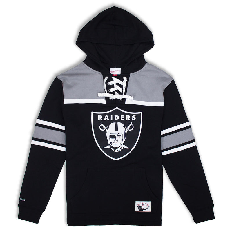 dccddb9e Mitchell & Ness Oakland Raiders Pullover Hockey Fleece Hoodie