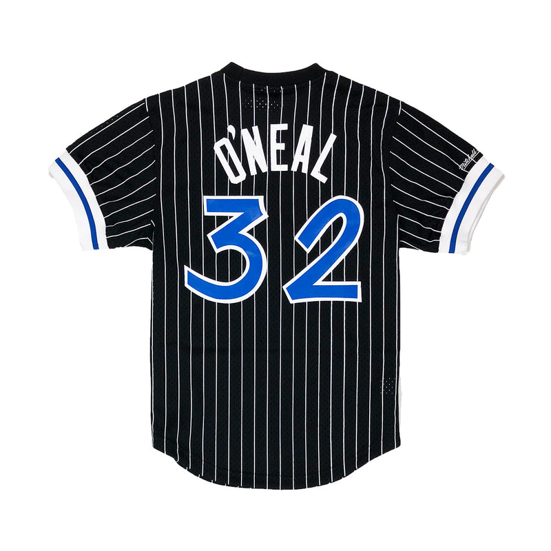 Mitchell & Ness Orlando Magic Shaquille O'Neal Name & Number Mesh Crew Neck Black Back