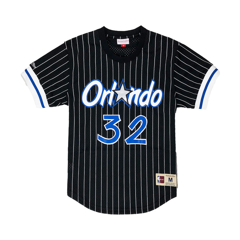 Mitchell & Ness Orlando Magic Shaquille O'Neal Name & Number Mesh Crew Neck Black