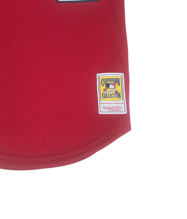 Mitchell & Ness Ozzie Smith St. Louis Cardinals BP Jersey Red Waist