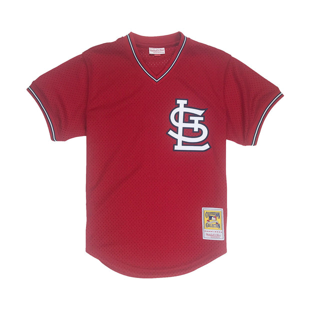 Mitchell & Ness Ozzie Smith St. Louis Cardinals BP Jersey Red