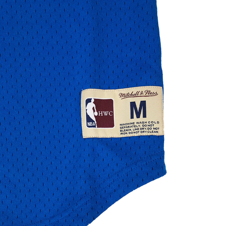 Mitchell & Ness Philadelphia 76ers Allen Iverson Name & Number Mesh Crew Neck Blue Trademark