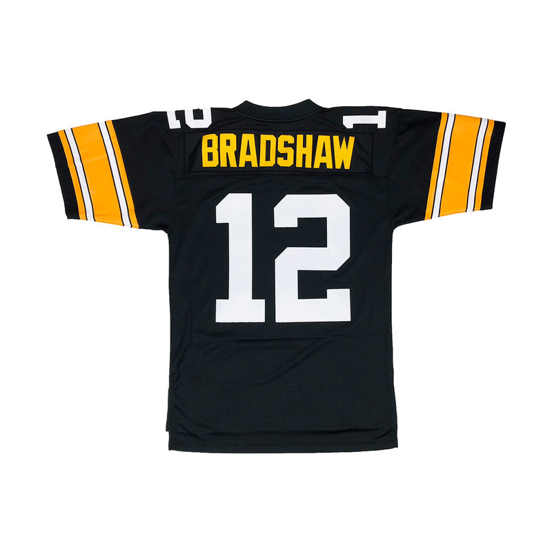 Mitchell & Ness Pittsburgh Steelers Terry Bradshaw Throwback Jersey Black Back