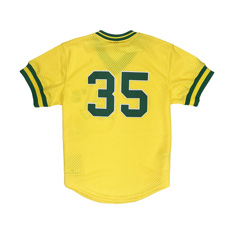 Mitchell & Ness Ricky Henderson Oakland Athletics BP Jersey Gold Back